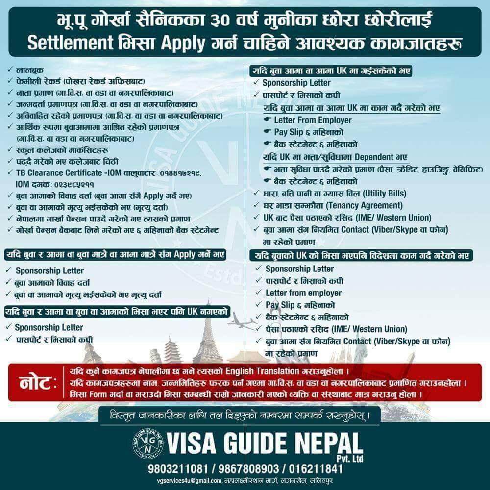 Ex British Gurkha Family Visa Visa Guide Nepal